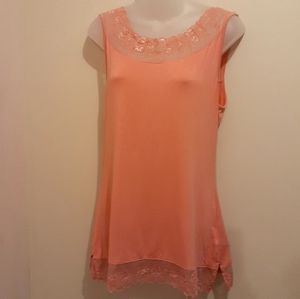 3 for $25- Cream Brand Tee in Peach, Size XL